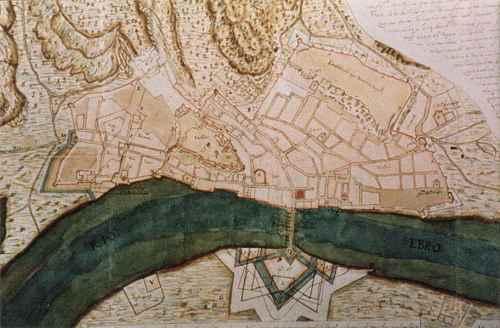 Plano de Tortosa a l'any 1642