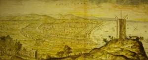 Torre de vigia de Montjuïc l'any 1563, sense el fortí