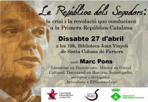 Xerrada Marc Pons 27A